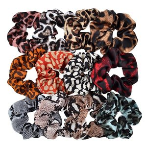 Leopard Striped Scrunchy Hairbands Women Dot Elastic Hair Bands Rubber Ponytail Holder Rope Ties Girls Fashion Hair Accessories