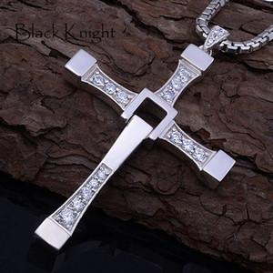 Быстрый яростный 8 хип-хоп ожерелье кулон Доминик Торетто крест из нержавеющей стали 316 с хрустальной подвеской для мужчин подарок