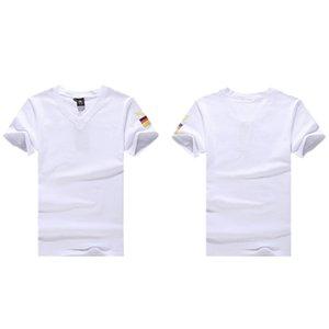 mens spor tişörtler eğitim için kısa pamuklu spor askeri ordu gündelik tişört Bodybulding Kamuflaj Gömlek Hızlı Kuru başında