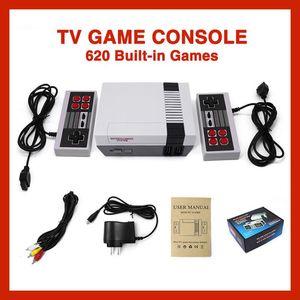 حار بيع TV فيديو صغيرة نظام الترفيه 620 تحكم لعبة وحدة التحكم لNES ألعاب وث صندوق البيع بالتجزئة التعبئة والتغليف