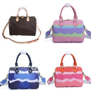 bolsas saco Designer bolsa Speedy escale a sacola da lona das mulheres sacos Boston oxidadas couro genuíno 25 30 35 Lady Bolsa crossbody saco