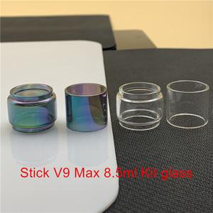 Смок Стик V9 Max 8,5 мл Kit Замена лампы Стеклянная трубка Fatboy Bubble Выпуклые Normal 2мл Glass Clear Радуга