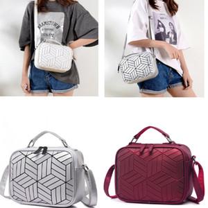 6 color Fashion Rhombus shoulder bag Rhombus Reflective Outdoor Mobile Phone bag Women's Street Shoulder messenger bag BJJ219