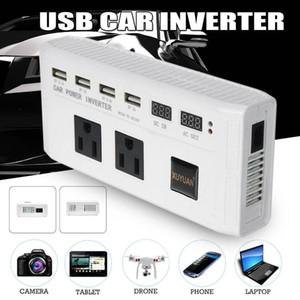 Inverter Car 500W DC12V para 220V 110V Tensão / transformador Mini Car Power Inverter conversor adaptador Sine Wave 4 USB Display + 2 LED