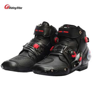 Botas de motocicleta motociclista à prova d 'água velocidade motocross sapatos de corrida homens / mulheres motorbike protetora montando botas moto macio antiderrapante