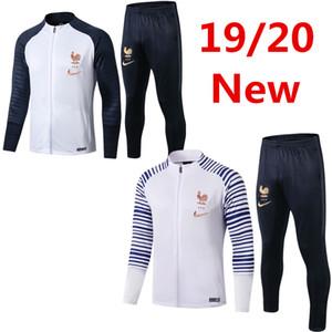 uniforme de l'équipe nationale Mbappe Pogba maillot de football de survêtement veste chemise de formation Giroud Griezmann frence le football à manches longues