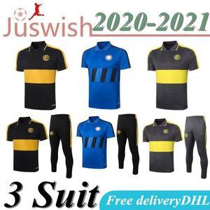 20 21 Inter milan hommes polo Shirt Martínez manches courtes Survêtements maillots de football Lukaku Sánchez football formation T shirt Barella kits costumes