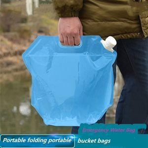 Caliente 5L / 10L al aire libre plegable bolsas de agua plegable bolsa de agua potable del agua del coche para el transporte de contenedores al aire libre que acampa yendo de picnic 4894