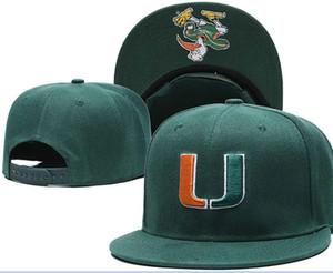 Miami Hurricanes snapbacks Futebol Americano Universitário NCAA chapéus Homens ajustável cap Hat Mulheres Fur futebol americano Red a03
