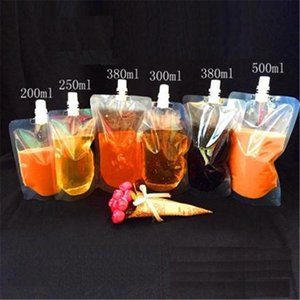 100ml 200ml 250ml 300ml 500ml Stand-up Plastic Drink Packaging Bag Spout Pouch for Beverage Liquid Juice Milk Coffee DLH169