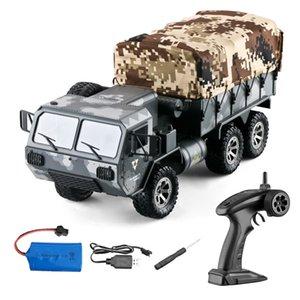 Eachine EAT01 1/16 2.4G 6WD RC del coche del control proporcional del Ejército de EE.UU. Militar Off Road Rock Crawler Truck RTR W / Varios batería