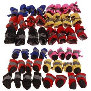 Antiscivolo scarpe per cani 4pcs / set calda pioggia Scarpe Dog Boots Cashmere cucciolo di cane Sneakers Pet Supplies all'Ingrosso