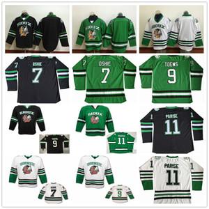 Северная Дакота Борьба Су Колледж Хоккей Трикотажные Изделия 9 Джонатан Toews 11 Зак Паризе 7 T. J. Оши Университет Мужские Сшитые Джерси