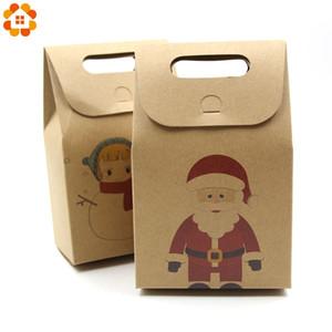 Caixas De Doces De Papel Kraft Presentes de Natal Suprimentos Caixas de Embalagem de Hóspedes Feliz Natal Wrap Favor Decorações Do Partido