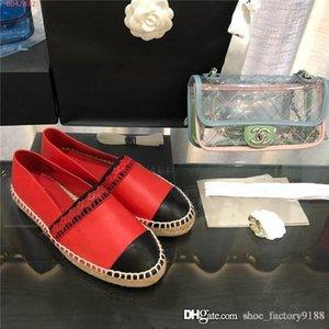 Montre classique Mocassins en cuir, Espadrille Flats avec de la paille de tissage Soles Casual Fisher Chaussures femme Slip-on pour la taille utilisation quotidienne 35-40