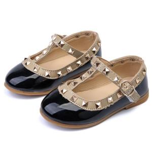 جديد أحذية الأطفال الربيع نمط pu برشام الفتيات الأحذية أزياء أطفال بنات الأميرة أحذية الأطفال أزياء رياضية واحدة حمراء وردي