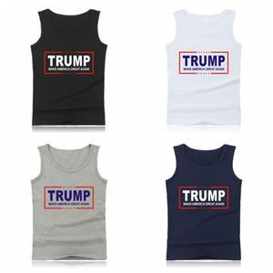Imprimer Donald Trump Tank Make American Great Again Gilet Sans manches D'été Bodybuilding Tops Drôle Hommes Casual T-shirt LJJA2404