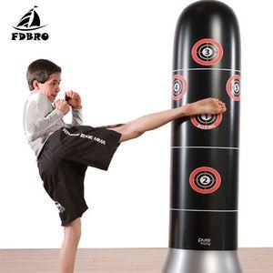 FDBRO New boxe sac de boxe gonflable libre-Stand Pression Tumbler formation Muay Thai Relief Bounce Back Sandbag avec pompe à air
