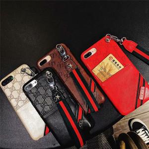 Antiklopfschutzhülle für Iphone 11 Profall Geprägte Monogramm mit Seitenkartentaschen für Iphone XS MAX XR X Bumper-Schutzhülle