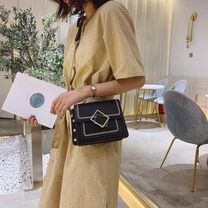 Designer- Küçük çanta Kadınlar 2020 Yeni Perçin Zincir Çanta Omuz Messenger Küçük Kare tasarımcı lüks çanta çantalar
