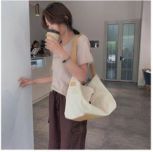 Designer 2020 New canvas Messenger Bag Women Handbag Big Ladies Shoulder for Girl Color Matching Big Fashion Casual Summer Travel Casual
