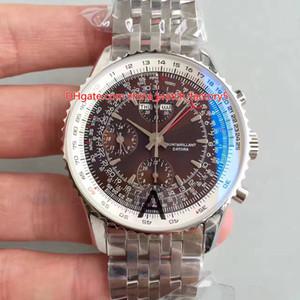 4 Stile migliore qualità JF Version 46 millimetri Navitimer World Chronograph GMT 46 A24322121C2A1 svizzero ETA 7750 Orologi dell'orologio Movimento automatico Mens