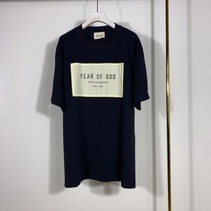 2020 Primavera Estate 6 Fear Of manica corta Dio Sesto raccolta di patch Sticker Tee Skateboard elegante maglietta Nebbia Uomo Donna T Shirt Casual