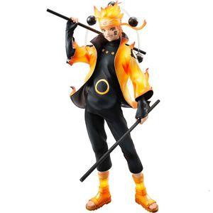 Nueva 22cm Naruto Uzumaki Naruto Figuras de Acción Anime PVC Brinquedos juguetes Colección de envío libre modelo T191107