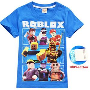 Roblox 게임 T- 셔츠 소년 소녀 의류 아이 여름 3D 재미 있은 인쇄 Tshirts 복장 아이들 아기를위한 짧은 소매 옷