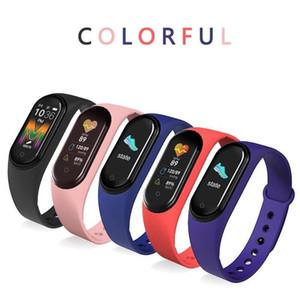 سمارت حزام 5 ألوان للياقة البدنية المقتفي M5 ووتش الرياضة سوار ضغط الدم معدل ضربات القلب Smartband مراقب الصحة الأساور IIA39