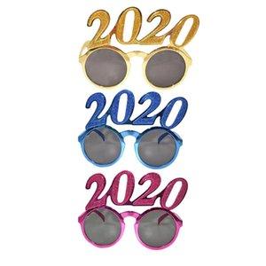 2020 Números Foto Prop óculos flash pó plástico Ano Novo Óculos Crianças Eyewear para decorações do partido 3colors RRA2564