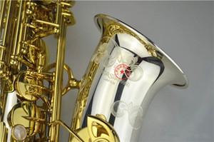 Brand NEW YANAGISAWA LOGO A-WO37 Alto Saxophone Nickel plated silver Gold Key Professional Sax Mouthpiece With Case