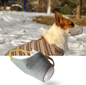 Köpek yumuşak yüz Pamuk ağız maskesi Pet solunum Pm2. 5 filtre Anti toz gaz kirliliği Namlu Anti-sis Pus maskeleri Köpekler Için koruyucu malzemeleri