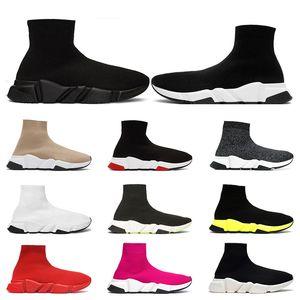 Balenciaga shoes Designer Scarpe Speed Trainer Marca bule nero bianco rosso Piatto Moda uomo donna Calzini Stivali Sneakers moda Scarpe da ginnastica Runner taglia 36-45