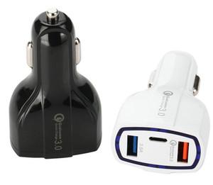 QC3 у.0 3 порта USB автомобильное зарядное устройство 35Вт 7А быстрая зарядка автомобильное зарядное устройство быстрая зарядка автомобильный адаптер для Samsung для Huawei