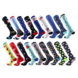 Huaya compressione Uomini Donne Sport calze di nylon unisex esterno funzionare corsa Happy Socks calze lunghe di pressione signore