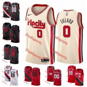 Custom PortlandTrailBlazersJersey Damian 0 Lillard Jusuf 27 Nurkic Nassir Little City EditionBasketball Jerseys