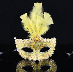 Halloween mask princess mask venice ball lady feather child adult prop plastic mask party domino party domino