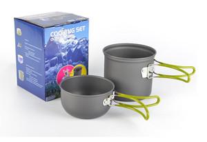 Открытый набор горшок 1-2 человек портативный кемпинг плита DS-101 набор горшок простой и быстрый 2 комплекта кемпинг туризм альпинизм кулинария пикник чаша горшок