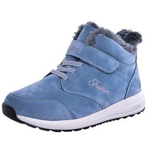 SAGACE Outdoor men's casual breathable flat bottom plus velvet snow boots hiking shoes winter warm cotton shoes men's boots