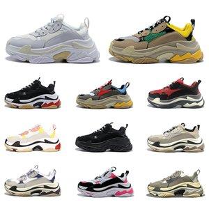 تريبل اس منصة أحذية الرجال النساء أحذية رياضية عادية أسود أبيض رجل إمرأة الأرجواني المدربين الرياضية أحذية رياضية للبيع عبر الإنترنت