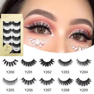 5 Pairs Natural long Eyelashes Makeup False Eyelashes Full Strip Lashes Faux Mink Eyelashes Thick 3d Mink Lashes