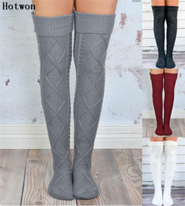 Autumn winter socks women stockings Warm Fashion Thigh High Over the Knee Socks Long Absorbent Breathable