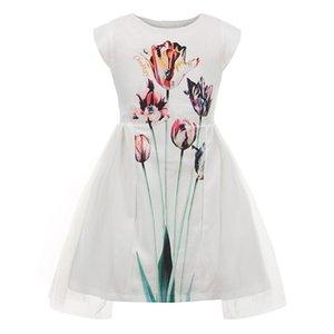 Childdkivy Robe Filles d'été 2019 filles Princesse mignonne robe pour Party imprimé floral Robe maille enfants Robes pour filles anniversaire J190712