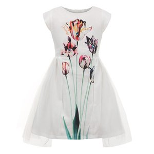 Childdkivy Girls Dress Summer 2019 Girls Cute Princess Dress For Party Floral Print Mesh Dress Kids Dresses For Girls Birthday J190712