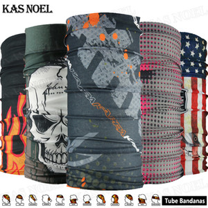 Flames Skull Motorcycle Tube Scarf Headgear Riding Skull Face Shield Outdoor Magic Seamless Bandana Multifunctional Headwear