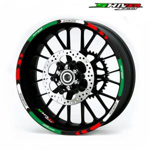 12 Pz moto nuova rotella Sticker banda decalcomanie Rim riflettenti ad alta qualità Aprilia Shiver 750