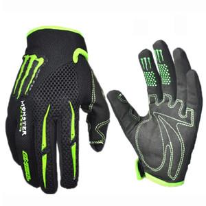 Marca para hombre de la mujer guantes de ciclismo transpirable verano motocicleta guantes deportivos bicicleta antideslizante bicicleta montando dedo completo guantes largos