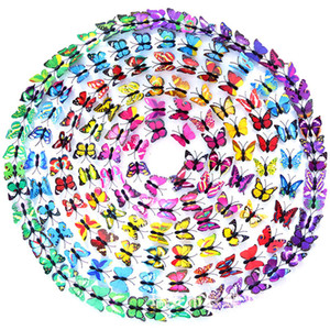 Imitazione Farfalla Stereo Farfalla Artigianato 3D Colore Farfalla Casa Gioielli Decorazione tenda Accessori fiore Sparare Puntelli Muro Sticke