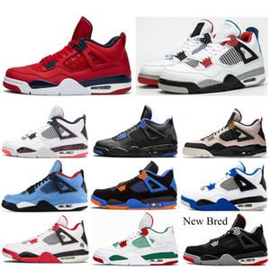 Zapatos de la parte superior 4 4s baloncesto de los hombres lo que los escoge día alternativo trueno SILT RED ALAS Lightning moda mensAirJordánZapatos
